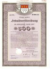 Città di Colonia 1957 colpa prescrizione su 500dm