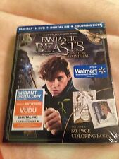 Fantastic Beasts and Where to Find Them Blu-ray,DVD,digital hd and coloring book