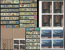 ZAMBIA VALUE OVERPRINTS 1968 UNIMPLODED BOOKLET PART SETS MNH VFU STAMPS 0808
