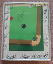 More details for michael potter limited edition print hand signed autograph by 17 snooker stars