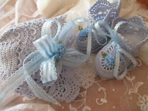 2 PCE CROCHETED CAP & BOOTEES FOR 0-3 MONTH OLD INFANT