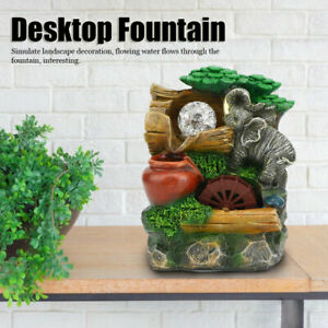 Simulate Rockery Waterfall Desktop Fountain Ornaments Home Table Fengshui Decor
