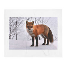 Red Fox Throw Blanket 50x60