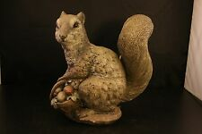 Vintage 1994 Squirrel Resin Lawn Statue Artist Signed Decoration Country-28T!