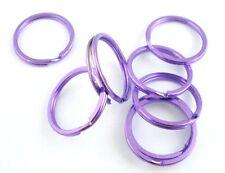 20 Purple Dyed 1 Inch Split Rings Key Rings 25x2mm