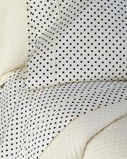 Ralph Lauren Modern Glamour Charlotte KING FLAT Sheet Polka Dot Dots NEW Cream