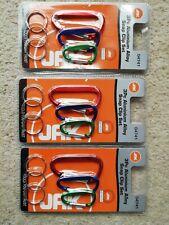 9 pc. aluminium snap link set. Plus 9 split rings.NOT FOR CLIMBING