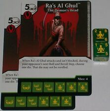 2 x RA'S AL GHUL: THE DEMON'S HEAD 70 Green Arrow and The Flash Dice Masters