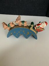 Midwest of Cannon Falls Winters Eve Santa Sled Wood Ornament Reindeer Sleigh