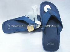 30% OFF! MIX CANVAS STRAP NAVY FLIP FLOP SANDALS SIZE 9 BNWT US$ 15+