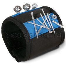 Magnetic Wristband Wrist Band Tool Belt Cuff Bracelet Nail Screw Kit Set BLUE fs