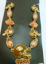 San Francisco 49ers 21 Charm Gold Necklace VIntage NFL Jewelry Item