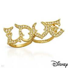 DISNEY New Ring With Genuine Crystals Made of Yellow Base metal