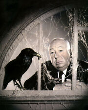 "ALFRED HITCHCOCK THE BIRDS DIRECTOR PRODUCER 1963 8x10"" HAND COLOR TINTED PHOTO"
