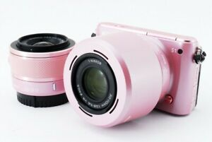 Nikon 1 S1 10.1MP 10-30/30-110mm Lens Kit Pink [Exc+++] w/8GB SD,Strap [270]