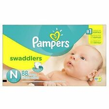 PAMPERS SWADDLERS BLANKIE SOFT DIAPERS-CASE of 88-SIZE NEWBON/UP TO 10 LBS-NEW