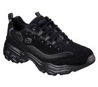 Shoes D'Lites Sneaker Men's 52675 BBK Black Skechers Memory Foam Leather Casual
