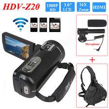 24MP 1080P HD 16X Zoom DV Digital Video Camera Camcorder DVR+Microphone+Bag New