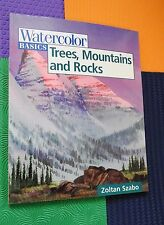 art instruction WATERCOLOR Basics Trees, Mountains Rocks Zoltan Szabo