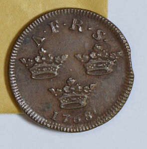 Sweden 1768 Pollet rare in this grade S0198 combine shipping