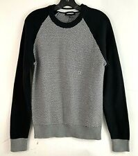 Express Womens Sz Small Chunky Knit Sweater Pull Over Black Gray Long Sleeve NWT