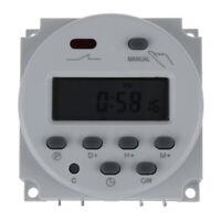 Digital LCD temporizador programable interruptor de la AC220-240 16A Blanco A4L1