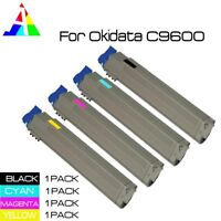 4 x Black Color Toner Cartridge Set for Okidata Oki C9600 C9850 C9800