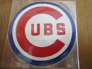 Original early 1970s vintage CHICAGO CUBS Sticker Unused 3 1/2 inches