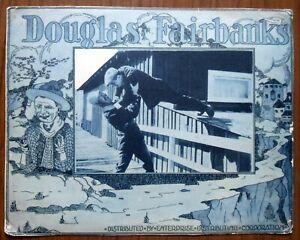 "AMERICANO Old Lobby Card Movie poster 10""X12.7"" Douglas Fairbanks Sr. Film 1920s"