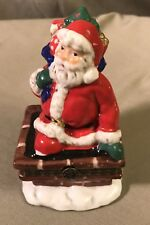 Classic Collectibles Rooftop Santa Christmas Music Box 1997