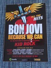 BON JOVI - 2013 AUSTRALIA TOUR - SIGNED AUTOGRAPHED LAMINATED TOUR POSTER