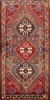 3'x5' Vintage Geometric Abadeh Tribal Hand-knotted Area Rug Wool Oriental Carpet