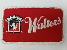 """RARE Vintage 4.25"""" x 2.5"""" Walter's Beer Hat Jacket Uniform Patch Brewing Brewery"""