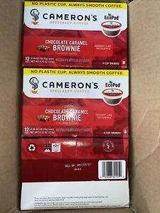 Cameron's Coffee Single Serve Pods, 72-Chocolate Caramel Brownie k-cups 4/21