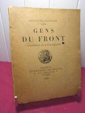 GUERRE 14/18 / GENS DE FRONT  Emmanuel Bourcier  vignettes de Louis Charve