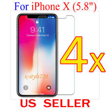 "4x Clear Screen Protector Guard Cover Film Shield For Apple iPhone X  (5.8"")"