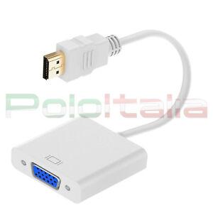 Convertitore HDMI a VGA converter to svga cavo per pc scheda video proiettore tv
