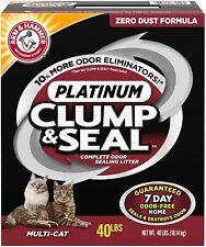 Arm & Hammer Clump & Seal Platinum Cat Litter, Multi-Cat, 40 lb - New
