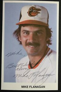 Mike Flanagan Baltimore Orioles (d.2011) Autographed 3x5 Signed Postcard