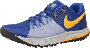 Nike Men's Air Zoom Wildhorse 4 Running Shoes, Gym Blue/Orange Peel, 8 D(M) US