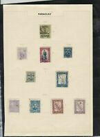 paraguay 1907-1927 stamps page ref 18214