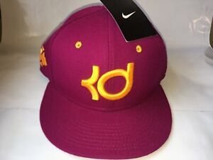 NEW Nike True KD Kevin Durant PURPLE GOLD Paint Splatter Hat Stitched 624392-666