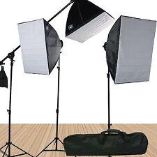 Fancierstudio FL9060S4 3800 Watt Softbox Video Lighting Kit Light Kit With Ca...