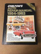 Chilton's Auto Repair Manual 1954-1963 Collectors Edition Prisine Condition