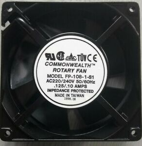 Rotary Box Fan 120 x 120 x 38m 220/240V COOLING for Computer Cases, Sunbed ETC
