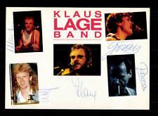 Klaus Lange Band  Autogrammkarte Original Signiert ## BC 95893