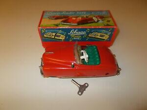 Vintage_SCHUCO Car 4012 Original Box /  Radio Works_  w Key U.S. Zone Germany NM