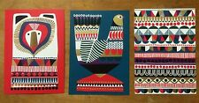 Marimekko postcards from Finland, SET OF 3, Kukkuluuruu by Sanna Annukka