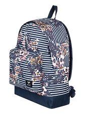 Roxy mochila bolso para mujer azul marino a rayas de bebé de azúcar. escuela Mochila. 16 L 8 W 28 BTE6