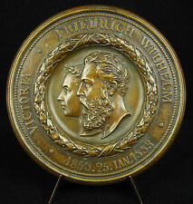Médaille Mariage Roi Friedrich Frédéric Hohenzollern 1883 Victoria 92 mm Medal
